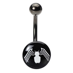 Spiderman Logo Belly Ring image