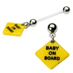 Baby on Board Pregnancy Belly Button Ring image