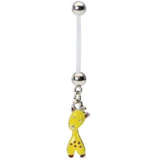 Flexible Giraffe Belly Button Ring