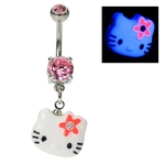Hello Kitty Belly Ring - UV Dangling image