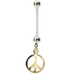 Peace Sign Pregnancy Belly Ring image