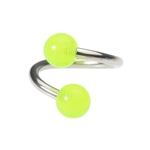 Glow In The Dark Belly Ring Green Twist image