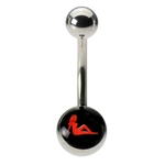 Mudflap Girl Logo Belly Button Ring image