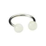 14g Glow In The Dark Clear Circular Barbell image