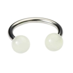 16 Gauge Lip Ring - Clear Glow in the Dark image
