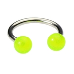16 Gauge Circular Barbell - Green Glow in the Dark image