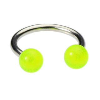 16 Gauge Circular Barbell - Green Glow in the Dark