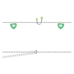 Belly Chain - Green Twisted Heart image