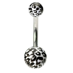 White Leopard Belly Ring image