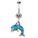 Nautical Dolphin Belly Ring image