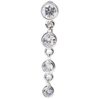 Top Down Sterling Silver Belly Button Ring