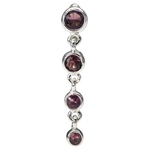 Sterling Silver Top Down Belly Ring Purple Gem image