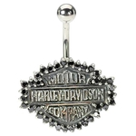 Harley Davidson Belly Button Ring image
