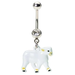 Sheep Belly Button Ring image