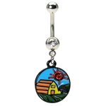 Country Farm Belly Button Ring image