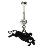 Racing Horse Belly Ring image