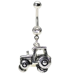 Covered Tractor Belly Ring image