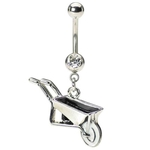 Wheelbarrow Belly Button Ring image
