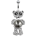 Panda Belly Button Ring Jeweled Belly image