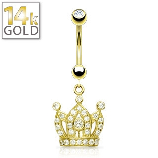 Juicy Crown Gold Belly Button Rings