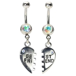 Best Friend Belly Ring - Iridescent image