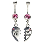 BFF Belly Button Rings - Hot Pink Jewels image