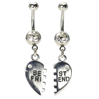 Best Friend Navel Rings - Clear Gem