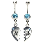 Bestfriend Belly Rings - Aqua image
