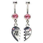 Pink Belly Button Ring - Best Friends image