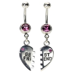 Purple Belly Button Ring - Friendship image