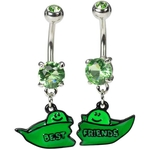 Friendship Belly Button Rings - Pea Pods image