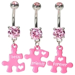 Best Friends Forever Belly Button Rings image