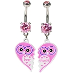 Best Friends Owl Belly Button Rings image