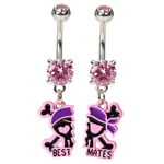 BFF Best Mates Pirate Belly Button Rings image