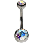 Internally Threaded Belly Rings - Long 1/2'' image