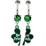 Best Friend Irish Belly Ring Set image