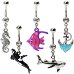 Beach Belly Button Rings Mix - 4 Pack Random Assortment image