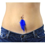 Blue Belly Ring Jeweled Feather image