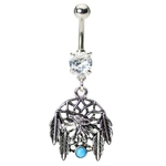 Wolf Dream Catcher Navel Ring image