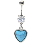 Turquoise Heart Southern Belly Button Ring image