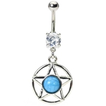 Texas Star Belly Button Ring image