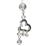 Heart Hypoallergenic Belly Button Ring image