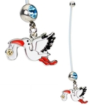 Stork Belly Ring for Pregnancy image