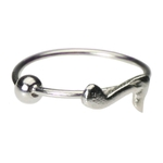 Music Note Nose Ring Hoop - 20g image
