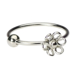 Sterling Silver Nose Hoop - 20g Flower image