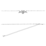 Belly Button Chain Non Pierced - Winged Heart image