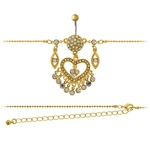 Gold Belly Chain w/ Heart image