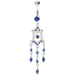 Blue Chandelier Titanium Belly Ring image