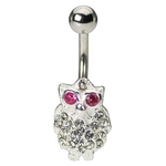 Jeweled Owl Belly Ring image