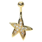 Gold Plated Starfish Belly Ring image